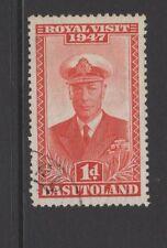 BASUTOLAND 1947 1d RED ROYAL VISIT Fine Used