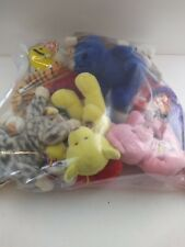 Bag Of Ty Beanie Babies & Other Small Collectible Stuffed Animals! Sku#73