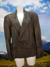 gut eingetragen mit Speckstellen Leder Janker kurze Trachtenjacke Jacke Gr.54
