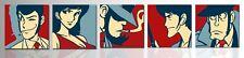 Set 5 quadri dipinti a mano su tela, Quadro Lupin, Quadri moderni pop art regalo