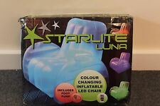 Starlite luna-colour changing inflatable LED chair