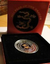 2012 British Virgin Islands Large Silver Proof $10 Year ofthe Dragon/Box/Crystal