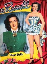 VINTAGE UNCUT 1955 JANE RUSSELL PAPER DOLLS~#1 REPRODUCTION~NOSTALGIC SET!