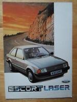 FORD Escort Mk3 Laser brochure 1983 1984 - Holland