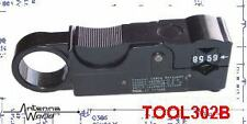 Rotary Coaxial Cable Rotary Stripper Connector prep RG-59 RG-6 RG-58 LMR240