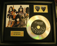 Kiss Preprinted Autograph, Gold Disc & Plectrum Presentation