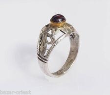 antik orient Afghan Edelstein silber Granat stein Perle Ring garnet silver Nr-41
