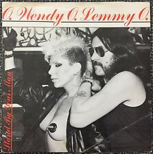 """WENDY O. WILLIAMS & LEMMY Stand By Your Man (1982) 7"""" SINGLE UK Bronze PUNK Rare"""