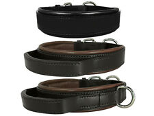 AGITATION DOG COLLARS, LEATHER, HANDLE, PADDED, RESTRAINT, SECURITY, GUARD DOGS