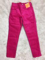 NWT Gymboree Girls Pink Cotton Spandex Stretchy Pants Elastic Waist Velvet 5 7 8