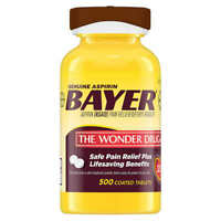 Bayer Genuine Aspirin Pain Reliever Coated - 500 Count