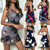 Summer Women Boho Short Maxi Dress Evening Cocktail Party Beach Dresses Sundress