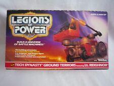 Dinastía legiones de Power Tech tierra terrores/Tonka 1986/Con Caja Y Manuales