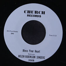 HELEN ROBINSON SINGERS: Bless Your Heart / Be Still And Know 45 Black Gospel