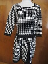 Lauren Ralph Lauren women's black white fit and flare NWT dress size Large