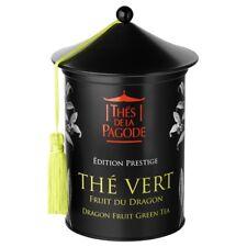 Thés de la Pagode, Organic Gourmet Dragon Fruit Green Tea in Metal Tin, 100 g