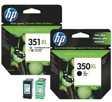 2 Genuine HP 350XL HP351XL Black & Colour Ink Cartridges for C4280 C4380 C4580