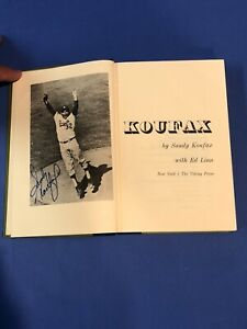 KOUFAX BY Sandy Koufax with Ed Linn HAND SIGNED AUTOGRAPH 1966 Hardcover Book