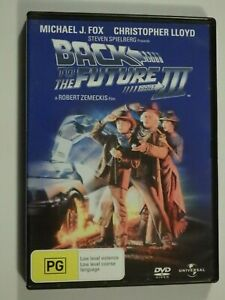 Back To The Future Part 3 (Part III) DVD Feat Michael J Fox Christopher Lloyd VG