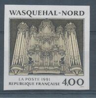 1991 France N°2706, 4f. crème et noir Non dentelé Neuf luxe** D2963