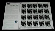 U.N. 2013, VIENNA #522, WORLD RADIO DAY, PANE/ 20, MNH, NICE! LQQK!