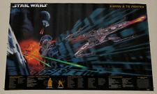1997 Star Wars poster: Darth Vader Tie Fighter/Luke Skywalker X-Wing/The Emperor