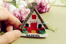 Portugal Madeira Santana Houses Tourist Travel Souvenir 3D Resin Fridge Magnet