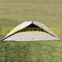 US MILITARY ONE MAN TENT IMPROVED COMBAT SHELTER W/POLES,STAKES,POUCHES & COVER!