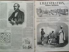 L'ILLUSTRATION 1859 N 841  LE PRINCE D'ABYSSINIE TAKAVE- GHIORYHIS, A PARIS