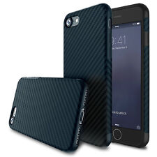 For iPhone5 6s 7 8 Plus X 10 Shockproof Silica Carbon Fiber Soft Slim Case Cover