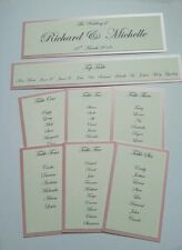 Handmade Personalised Wedding Table Plan cards *lots of colours available