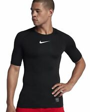 Nike Herren Kompressions T-Shirt NIKE PRO TOP SS COMP schwarz