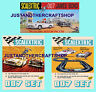 Scalextric 1968 James Bond Set of 3 Posters Adverts Signs Aston Martin Mercedes