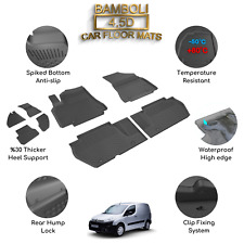Premium 4,5D Car Floor Mat for Citroen Berlingo 2008 - 2018