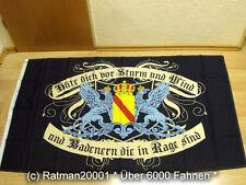 Fahnen Flagge Baden Hüte dich vor Sturm und Wind - 90 x 150 cm