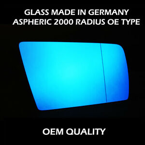 Wide Angle Wing Mirror ( W140 - Blue tinted )  Glass For Mercedes S Class FITS T