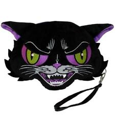 Kreepsville 666 Kattitude Cat Wristlet Goth Punk Plush Clutch Purse Bag BGWKT