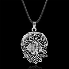 Antique Silver Tree of Life Pendant Norse Viking Amulet Necklace Men's Jewelry