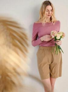 Damen Shorts im hochwertiger Qualität, Farbe camel, Größe 44 Designer Bermuda
