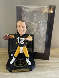 TERRY BRADSHAW Pittsburgh Steelers NFL Matted Jersey Showcase Bobblehead #/212