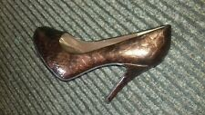 ladies shoes STEVEN BY Steve Madden.heeled.col marled Bronze.size 5 pre owned