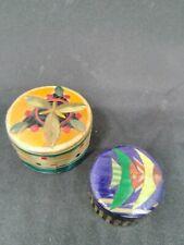 Set of 2 Small Wood Trinket Box