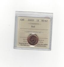 **2005P**ICCS Graded Canadian Small One Cent, **MS-67** (Magnetic)