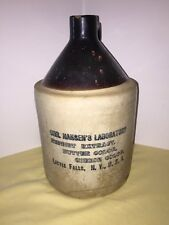Antique Stoneware Jug Advertising Little Falls New York Rennet Extract