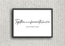 Personalised Family Quote Print! New Home Print! Housewarming gift!