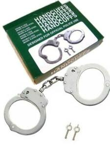 Nickle Plated Heavy Duty Steel Handcuffs