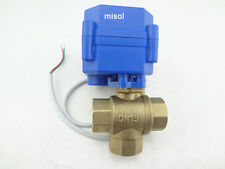 "3 way motorized ball valve DN15 1/2"" L port (reduce port)electric ball valve"