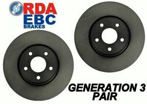 Mazda 626 GC FWD & Turbo 1984-1987 FRONT Disc brake Rotors RDA334 PAIR