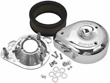 S S Cycle - 106-4669 - Teardrop Air Cleaner Single Bore EFI 58mm Throttle Bodies