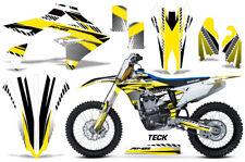 Suzuki RMZ450 RMZ 450 Graphics Kit Dirt Bike Wrap Decals Stickers 2018 TECK YLW